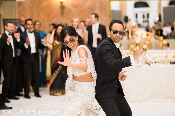 Reception in San Juan, Puerto Rico Destination Indian Wedding by Vanessa Velez Photography