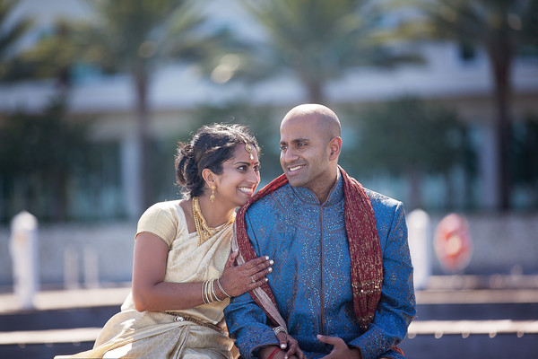 First Look in Grand Cayman South Indian Destination Wedding by Daria Keenan Photography
