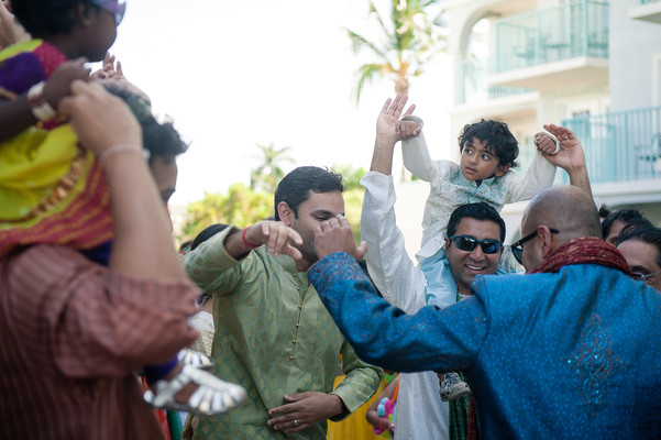 Baraat in Grand Cayman South Indian Destination Wedding by Daria Keenan Photography