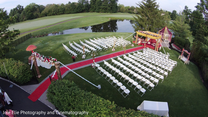 Ceremony in Blue Bell, PA Indian Wedding by Joie Elie Photography and Cinematography
