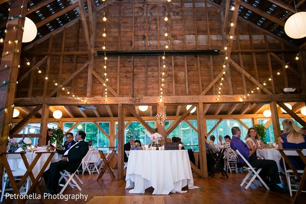 Reception in Big Indian, New York Hindu-Jewish Fusion Wedding by Petronella Photography