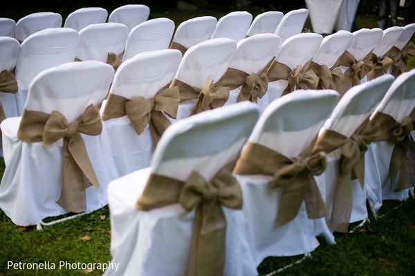 Chairs in Big Indian, New York Hindu-Jewish Fusion Wedding by Petronella Photography