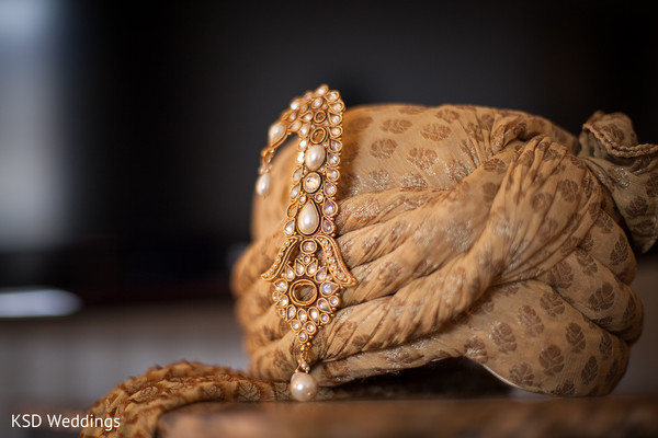 Groom Fashion Details in Poughkeepsie, NY Indian Wedding by KSD Weddings