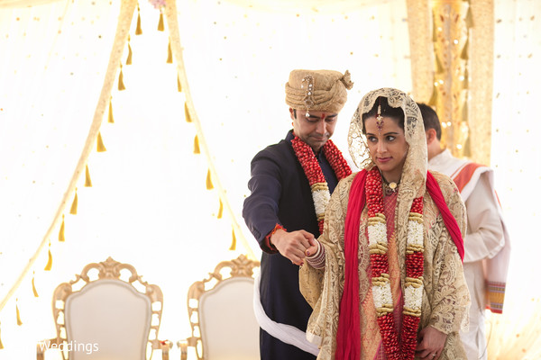 Ceremony in Poughkeepsie, NY Indian Wedding by KSD Weddings