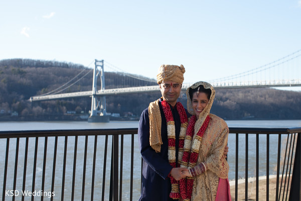 Wedding Portrait in Poughkeepsie, NY Indian Wedding by KSD Weddings