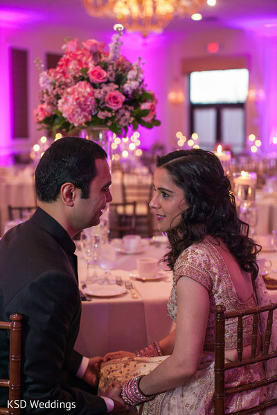 Reception Portrait in Poughkeepsie, NY Indian Wedding by KSD Weddings