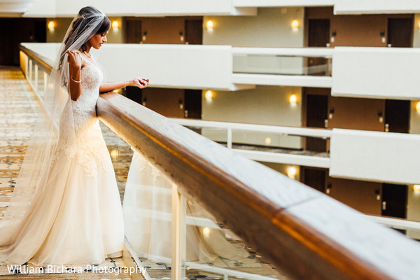 Bridal Portrait in Austin, TX Indian Wedding by William Bichara Photography