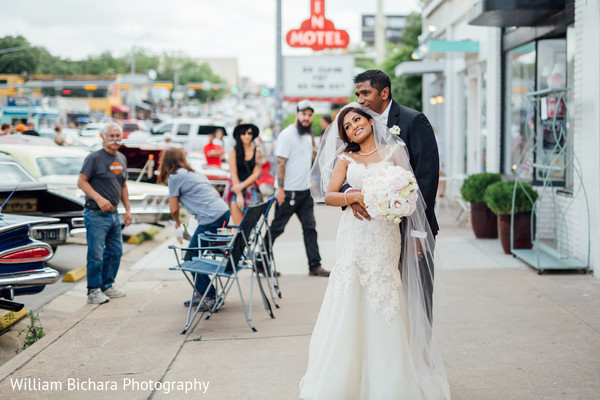 Wedding Portrait in Austin, TX Indian Wedding by William Bichara Photography