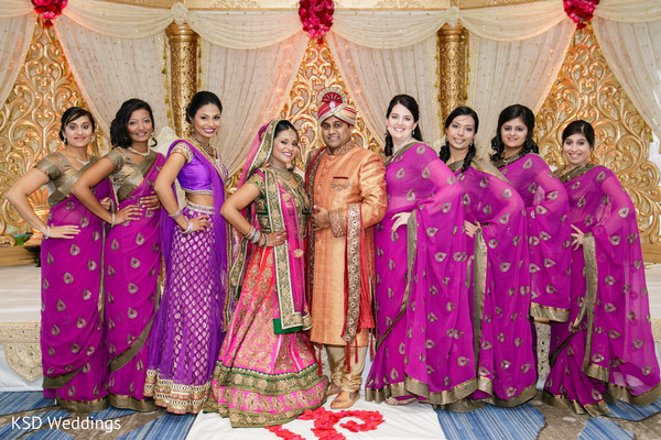 indian wedding portraits,indian bridesmaids