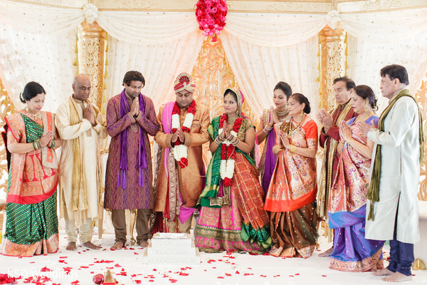 Ceremony in Jersey City, NJ Indian Wedding by KSD Weddings