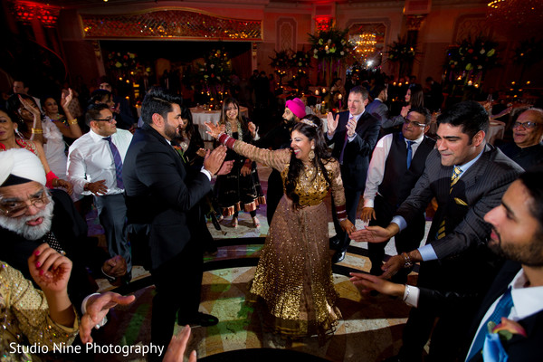 Reception in Garfield, NJ Sikh Wedding by Studio Nine Photography