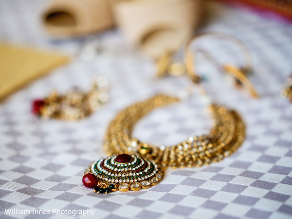 Necklace in Pasadena, CA Indian Wedding by William Innes Photography