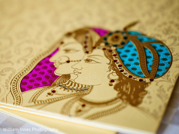 Wedding Invitation Detail in Pasadena, CA Indian Wedding by William Innes Photography