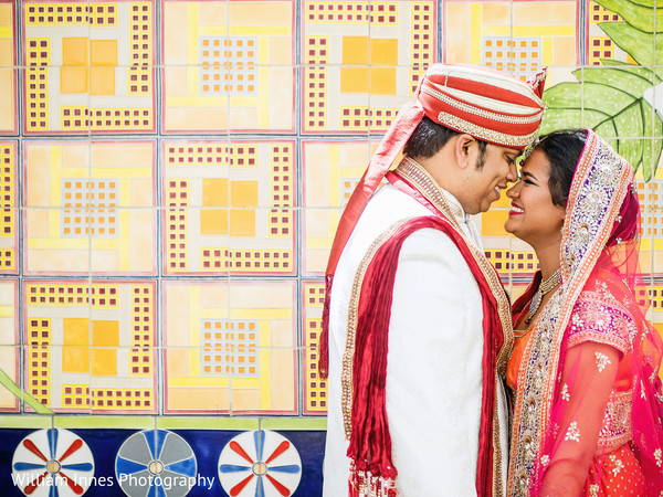 First Look in Pasadena, CA Indian Wedding by William Innes Photography