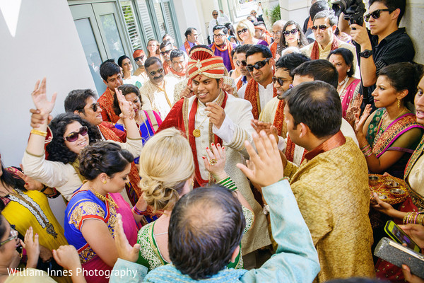Baraat in Pasadena, CA Indian Wedding by William Innes Photography