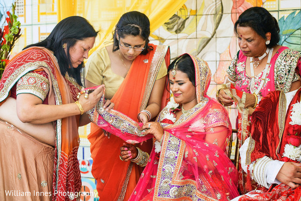 Ceremony in Pasadena, CA Indian Wedding by William Innes Photography