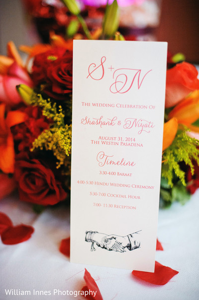 Stationery in Pasadena, CA Indian Wedding by William Innes Photography