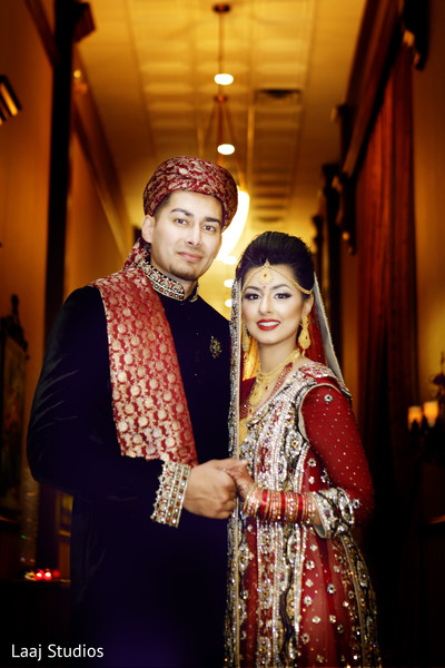 Wedding Portrait in Edison, NJ Mehndi Night by Laaj Studios