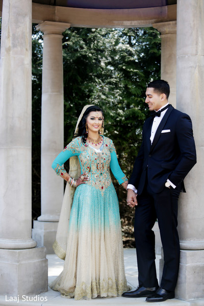 Walima Portrait in Edison, NJ Mehndi Night by Laaj Studios