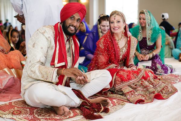 Ceremony in Springfield, PA Indian Fusion Wedding by KSD Weddings