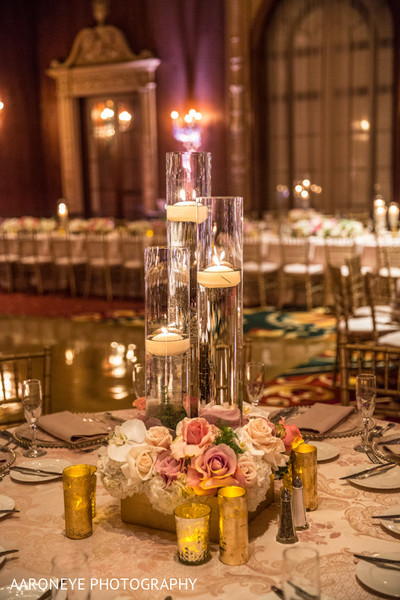 Floral & Decor in Los Angeles, CA Indian Wedding Reception by Aaroneye Photography