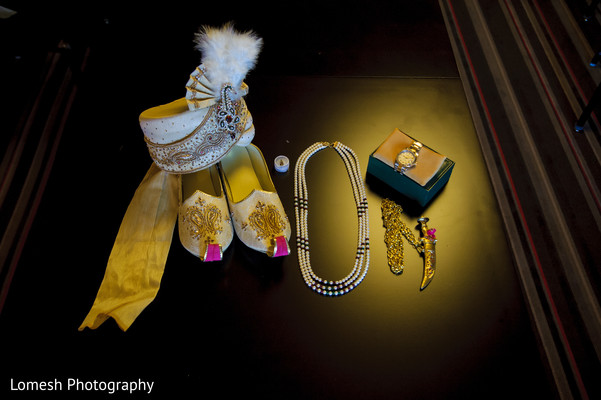 Groom Accessories in Grapevine, TX Indian Wedding by Lomesh Photography