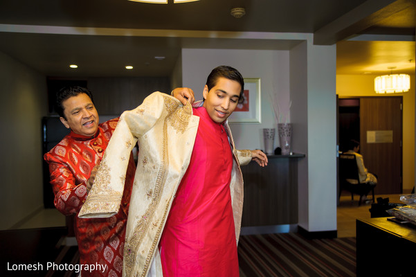 Groom Getting Ready in Grapevine, TX Indian Wedding by Lomesh Photography