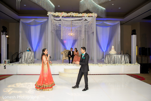 Reception in Grapevine, TX Indian Wedding by Lomesh Photography