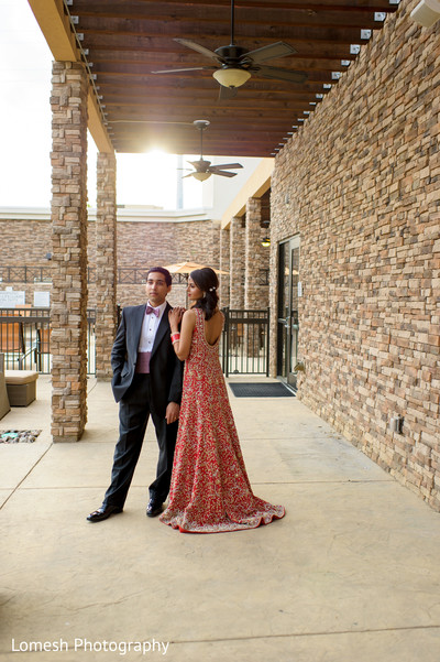 Reception Portrait in Grapevine, TX Indian Wedding by Lomesh Photography