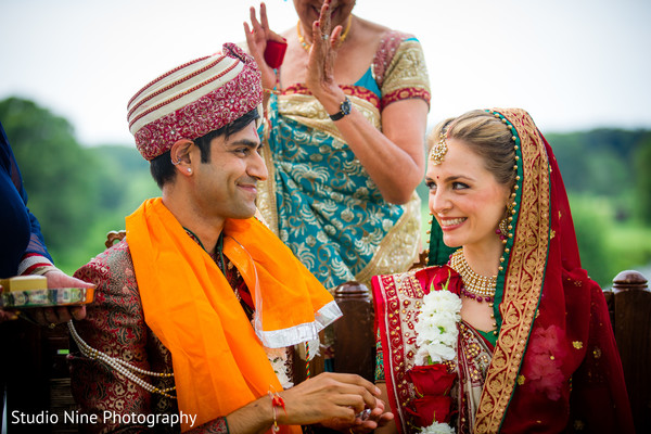 Ceremony in Florham Park, NJ Indian Fusion Wedding by Studio Nine Photography