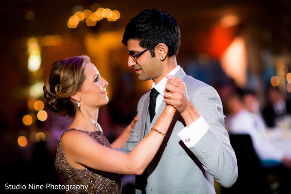 indian bride and groom first dance
