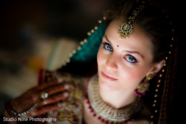Getting Ready in Florham Park, NJ Indian Fusion Wedding by Studio Nine Photography
