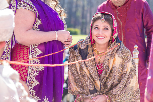 Ceremony in Atlanta, GA Indian Fusion Wedding by Chil Studios