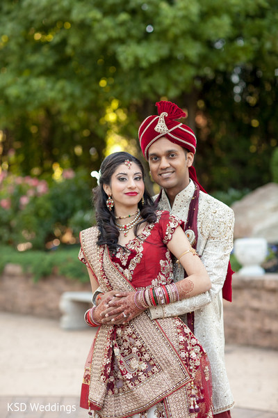 First Look in Cinnaminson, NJ Indian Wedding by KSD Weddings