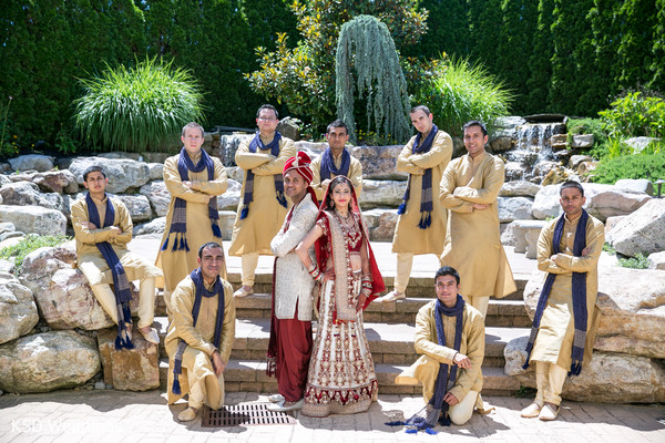 Groomsmen in Cinnaminson, NJ Indian Wedding by KSD Weddings