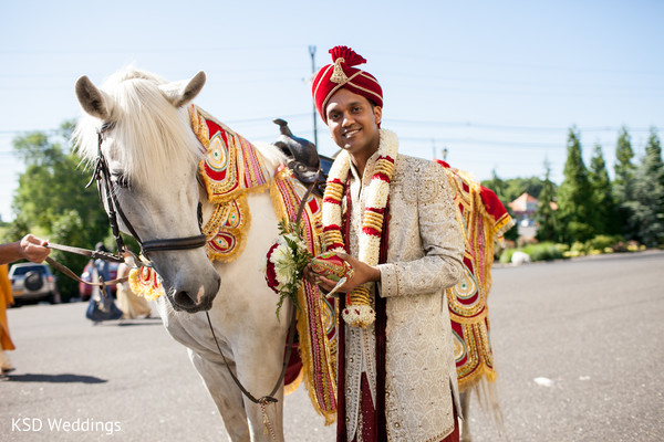 Baraat in Cinnaminson, NJ Indian Wedding by KSD Weddings