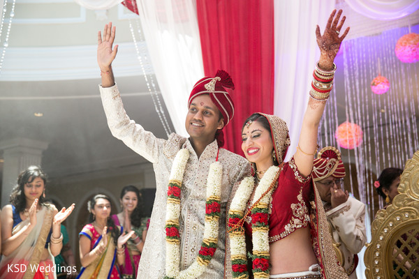 Ceremony in Cinnaminson, NJ Indian Wedding by KSD Weddings