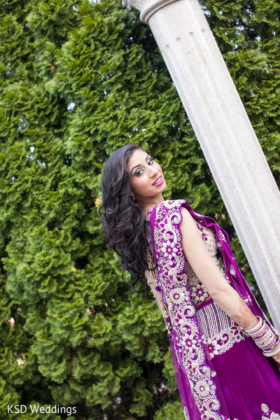 Bridal Portrait in Cinnaminson, NJ Indian Wedding by KSD Weddings