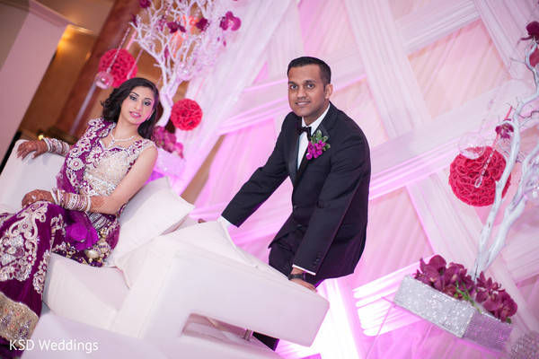 Reception Portrait in Cinnaminson, NJ Indian Wedding by KSD Weddings