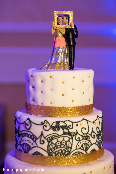 Cakes & Treats in Baltimore, MD Indian Wedding by Photographick Studios