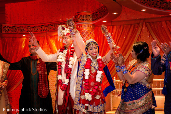 Ceremony in Baltimore, MD Indian Wedding by Photographick Studios
