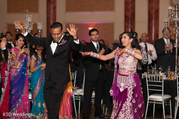 Reception in Cinnaminson, NJ Indian Wedding by KSD Weddings