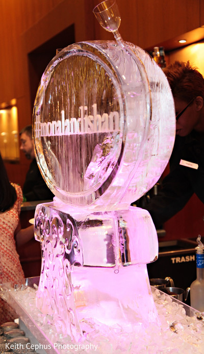 Ice Sculptures in Virginia Beach, VA Indian Wedding by Keith Cephus Photography