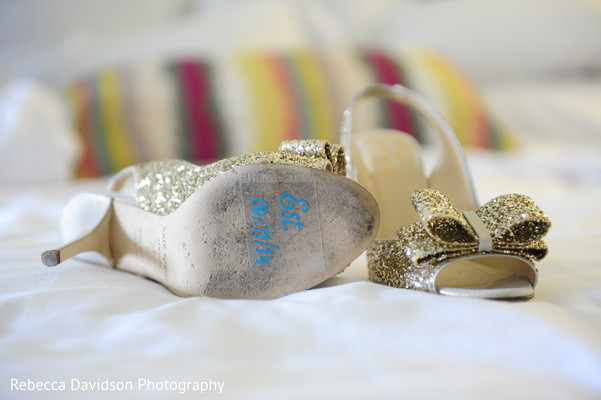 Shoes in Grand Cayman Islands Indian Fusion Destination Wedding by Rebecca Davidson Photography