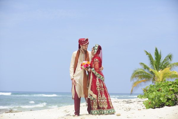 Portraits in Grand Cayman Islands Indian Fusion Destination Wedding by Rebecca Davidson Photography