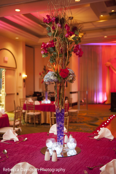 reception decor,floral centerpiece