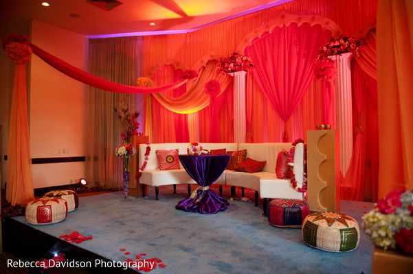 Reception in Grand Cayman Islands Indian Fusion Destination Wedding by Rebecca Davidson Photography