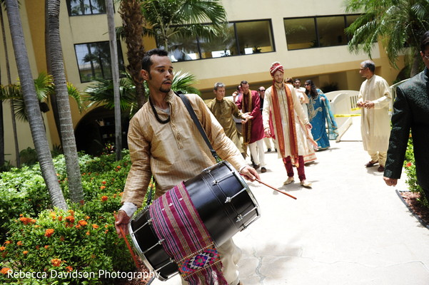 Baraat in Grand Cayman Islands Indian Fusion Destination Wedding by Rebecca Davidson Photography