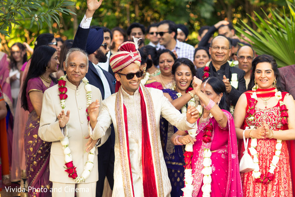 Baraat in Playa del Carmen, Mexico Indian Destination Wedding by Vivida Photo & Cinema