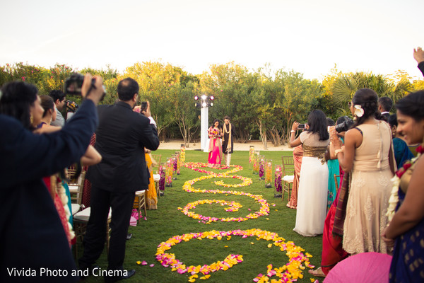 Ceremony in Playa del Carmen, Mexico Indian Destination Wedding by Vivida Photo & Cinema